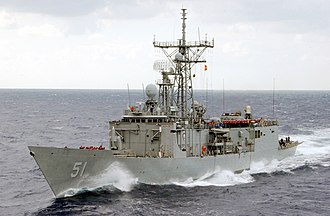 USS Gary (FFG-51) - Gary in 2002, before removal of her missile launcher.
