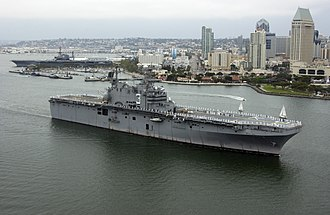 USS Belleau Wood (LHA-3) - Belleau Wood returns to San Diego for the last time prior to her withdrawal from service in 2005