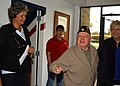 US Navy 061103-N-8102J-072 Film, stage and singing star, Mickey Rooney addresses the crowd as he departs Mayport's United Services Organization (USO).jpg