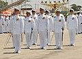 US Navy 080628-N-3560G-245 ailors assigned to Naval Mobile Construction Battalion (NMCB) 4 form up preparing to march in a parade during the opening ceremonies of Seabee Days.jpg