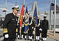 US Navy 091107-N-8273J-100 Chief of Naval Operations (CNO) Adm. Gary Roughead participates in the commissioning ceremony of the of the amphibious transport dock ship USS New York (LPD 21).jpg