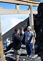 US Navy 100730-N-8113T-087 Chief Engineman David Young, from Fort Pierce, Fla. assigned to Space and Naval Warfare Systems Center, Western Pacific, reenlists at the summit of Mount Fuji with his Officer-in-Charge, Cmdr. Andrew.jpg
