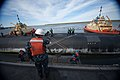 US Navy 110405-N-FG395-031 Boatswain's Mate 1st Class Ted Marsh directs line handlers mooring at Naval Submarine Base Kings Bay.jpg