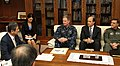 US Navy 110411-A-VR663-002 Japan Minister of Defense Toshimi Kitazawa meets with Adm. Patrick M. Walsh, third from left, commander of Joint Support.jpg