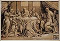 Ugo da carpi, cristo a casa di simone il fariseo (da raffaello), xilografia a tre legni, 1500-30 ca.JPG