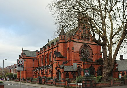 Ullet Road Unitarian Church, Liverpool. Built 1899. Grade I. Ullet Road Unitarian Church 2019.jpg