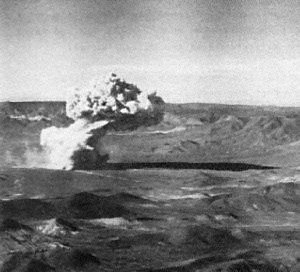 Underground nuclear weapons testing - Buster-Jangle Uncle, the first underground nuclear explosion