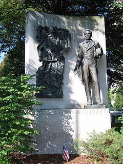 "Uncle Sam Memorial Statue statue commerating ""Uncle"" Samuel Wilson"