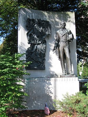 Samuel Wilson - Image: Uncle Sam Memorial Statue, Arlington, MA general view