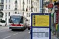 Union-organised transport strike 2011-06-16 Brno, Konecny square 2.jpg