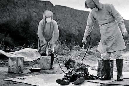 U.S. authorities granted Unit 731 officials immunity from prosecution in return for access to their research. Unit 731 victim.jpg