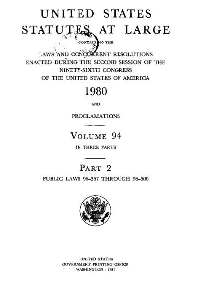 File:United States Statutes at Large Volume 94 Part 2.djvu