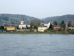 Unkel seen from the left bank of the Rhine
