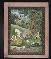 Unknown Indian - Rama, Lakshmana, and Sita Cooking and Eating in the Wilderness - Google Art Project.jpg
