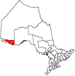 Location of Unorganized Rainy River District