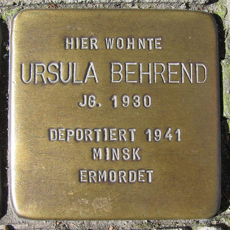 Ursula Behrend - Wandsbeker Zollstraße 89 (Hamburg-Wandsbek).Stolperstein.nnw.jpg