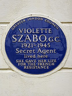 Violette szabo. g.c. 1921 1945 secret agent lived here she gave her life for the french resistance (2)