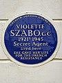 VIOLETTE SZABO. G.C. 1921-1945 Secret Agent lived here SHE GAVE HER LIFE FOR THE FRENCH RESISTANCE (2).jpg