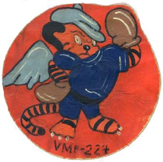 VMFA(AW)-224 - Squadron Patch when they were VMF-224