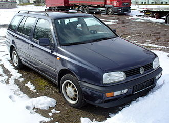 Volkswagen Golf Estate - Image: VW Golf III Variant GL blue
