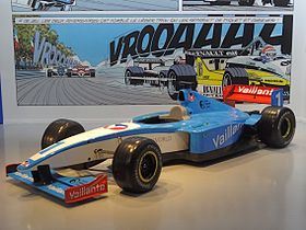 Vaillante Formule 1, voiture issue des albums de Michel Vaillant