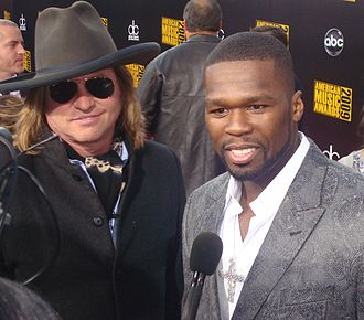 Val Kilmer - Kilmer with 50 Cent at the AMAs 2009