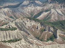 valle dei calanchi vista da civita di bagnoregio verso nord est