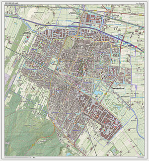 Veenendaal - Topographic map of Veenendaal (town), as of March 2014