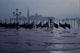 "Flood - ""Regular"" flooding in Venice, Italy."