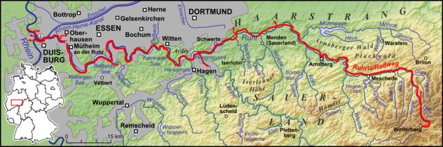 Karte RuhrtalRadweg