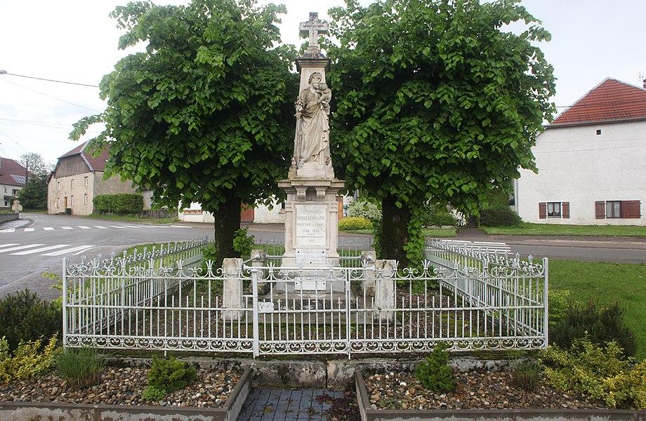 Monument aux morts de Vernierfontaine (Doubs).