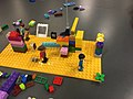 Very yellow Lego club at Manchester Central Library (32571281166).jpg