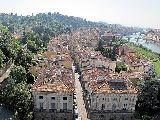 Via San Niccolòa, veduta dalla Torre di San Niccolò
