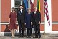 Vice President Mike Pence, Estonian President Kersti Kaljulaid, Latvian President Raimonds Vējonis, and Lithuanian President Dalia Grybauskaitė, July 31, 2017 (36120936502).jpg