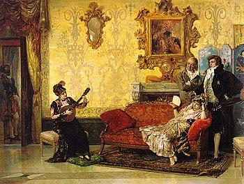 El concierto de vicente palmaroli 1880 con un for Casa musica chile