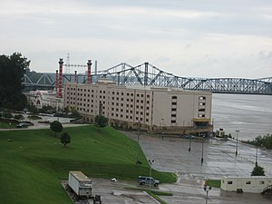 Vicksburg, Mississippi. Casino boat at Mississ...