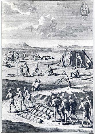Joseph-François Lafitau - Image: Vie quotidienne des Amérindiens en Nouvelle France (XVII Ie siècle)