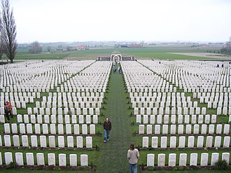 War grave - Image: View from top of Tyne Cot