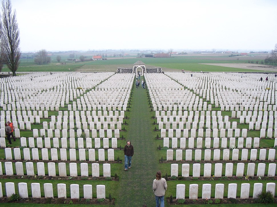 View from top of Tyne Cot