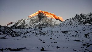 Everest Base Camp - View of Everest Region on the way to