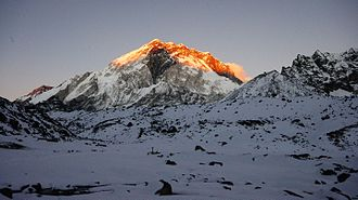 Everest base camps - A view of the Everest region on the way to Everest Base Camp, Nepal