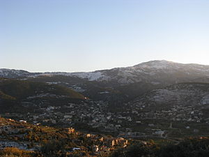Al-Qoubaiyat - Image: View of Kobayat in Lebanon