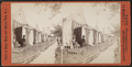 View of tourists in front of bath houses, from Robert N. Dennis collection of stereoscopic views.png