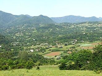 Zestafoni Municipality - Image: Village Alaverdi