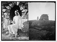 Vineyard & watch tower near Taibeh (i.e., Taybeh) & Ibrahim Yacoub, Ain Yabrud. LOC matpc.03275.jpg