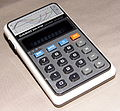 "Vintage Casio Model 801 ""Biolator"" LED Pocket Electronic Calculator, Made in Japan, 1975 (8720348399) (2).jpg"