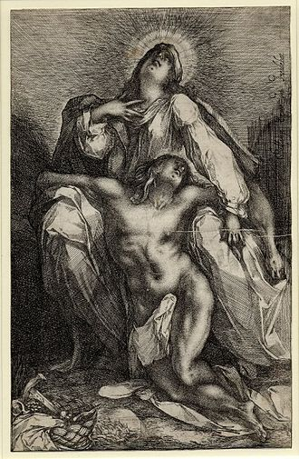 Jacques Bellange - Bellange's Pietá, something of a test-piece for appreciation of his style.