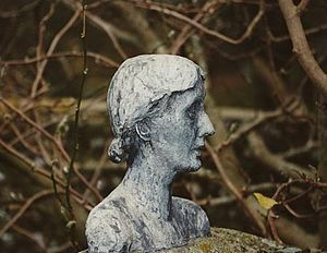 Bust of Virgina Woolf by Stephen Tomlin