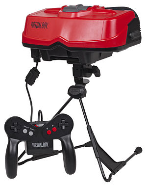 Virtual Boy - A Virtual Boy console with its controller