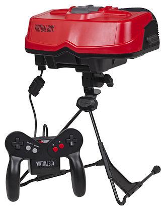 Virtual Boy - A Virtual Boy console with its controller